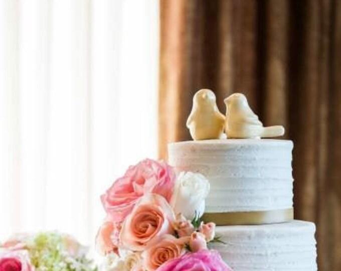 Birds Cake Topper Wedding Figurine - Love Birds Wedding Cake Topper Sculpture  - Pick Your Color