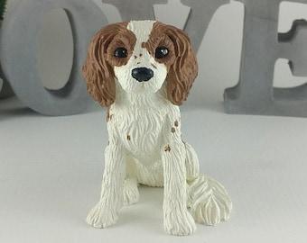 Cavalier King Charles Spaniel Sculpture - Realistic Dog Pet Portrait Figurine - King Charles Cavalier Wedding Cake Topper