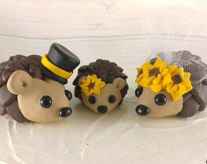 Hedgehogs Family Wedding Cake Topper