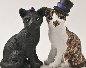 Cat Cake Topper Sculpture - Realistic Wedding Cats