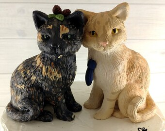 Cat Cake Topper Sculpture - Realistic Wedding Cats