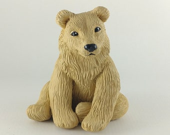 Realistic Bear Sculpture - Bear Figurine - Bear Cake Topper - Blond Brown Bear Grizzly Bear Black Bear