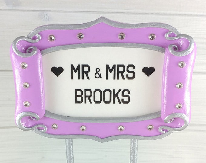 Hollywood Sign Cake Topper - Broadway Marquee Theatre Sign Wedding Topper