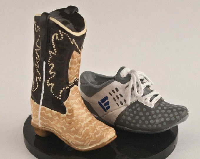 Shoe and Boot Wedding Cake Topper Custom Footware