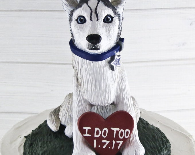 Dog Wedding Cake Topper - Custom Pet Portrait Figurine - Any Breed