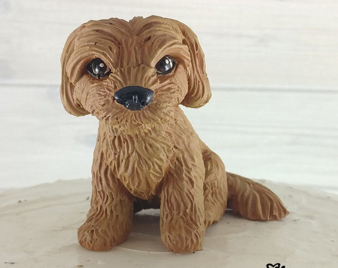 Dog Havanese Sculpture - Realistic Dog Figurine - Havanese Wedding Cake Topper