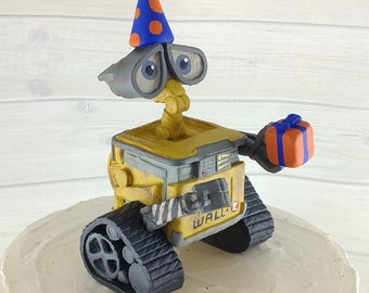 Wall-E Birthday Topper - Hollywood Movie Character Themed Party Figurine Decoration Keepsake - Sculpture - Kids Birthday