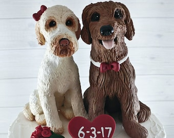 Dog Wedding Cake Topper - Custom Figurines - Pet Portrait - Any Breed