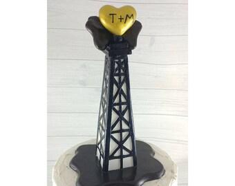 Oil Rig Derrick Wedding Cake Topper
