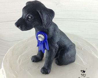 Dog Labrador Sculpture - Realistic Dog Figurine - Labrador Retriever Wedding Cake Topper - Pet Portrait