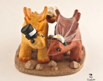 Stegosaurus Dinosaur Wedding Cake Topper Figurine - Prehistoric Wedding Cake Topper - Paleontologist Anniversary Gift