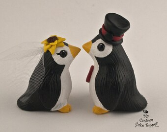 Penguin Wedding Cake Topper - Cute Pengies