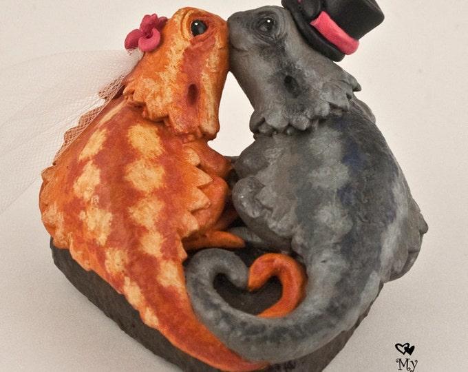 Bearded Dragons Wedding Cake Topper