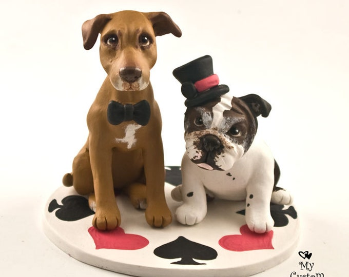 Pet Dog Wedding Cake Topper- Custom Dog Sculptures and Figurines - Any Breed