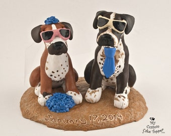 Pet Dog Wedding Cake Topper - Custom Figurines - Any Breed