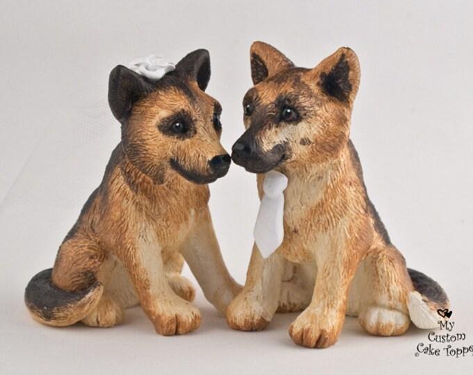 Dog Wedding Cake Topper - German Shepherd