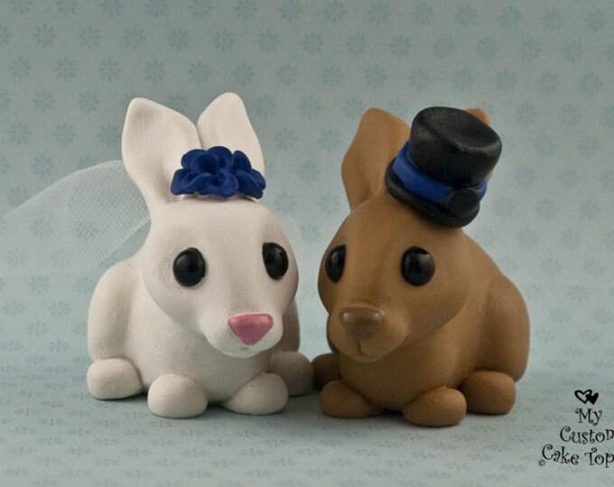 Bunny Wedding Cake Topper - Rabbits in Love - Bunny Cake Topper