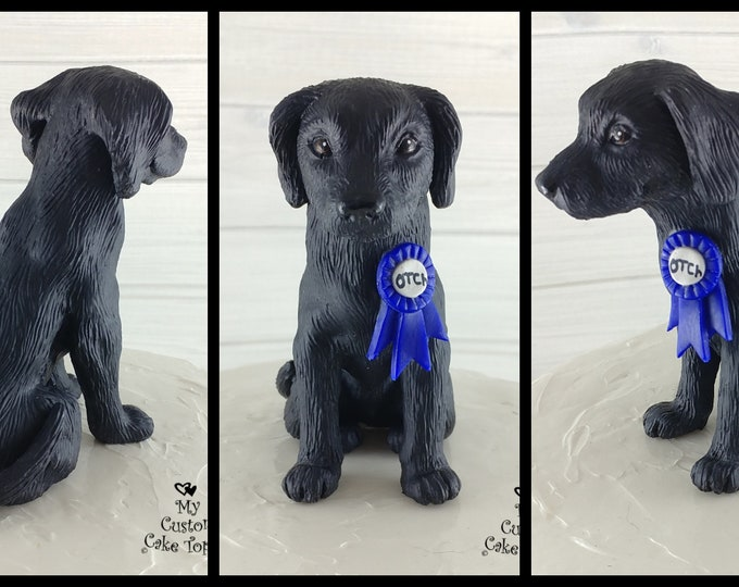 Dog Labrador Sculpture - Realistic Dog Figurine - Labrador Retriever Wedding Cake Topper