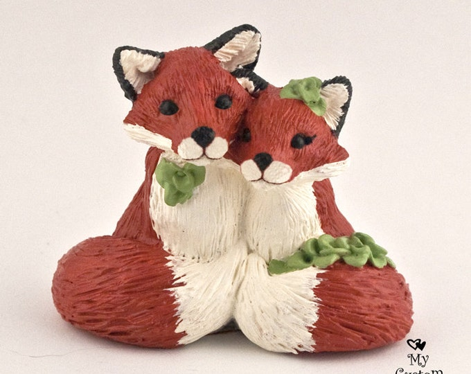 Fox Wedding Cake Topper - Realistic