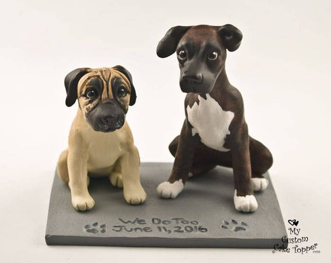 Dog Wedding Cake Topper - Custom Figurines - Pet Portrait - Any Breed