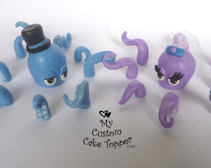 Octopus Wedding Cake Topper