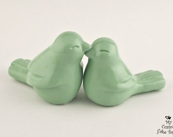 Love Bird Cake Topper Wedding - Pick Your Color