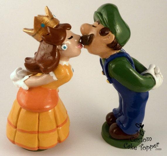 Luigi Cake Topper Luigi And Daisy Super Mario Wedding Prince