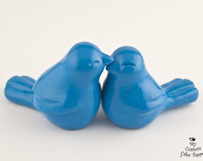 Love Bird Cake Topper Wedding Sculpture - Simple Elegant Modern - Pick Your Color