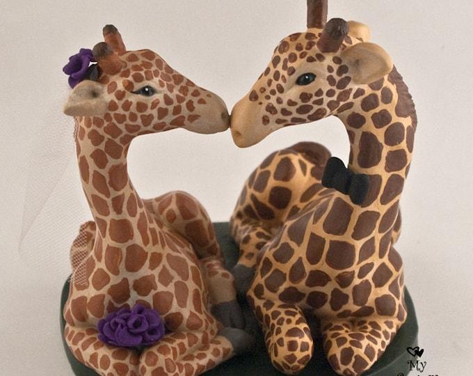 Giraffe Wedding Cake Topper