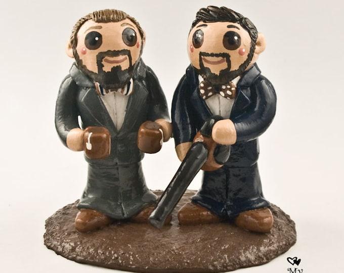 Groom and Groom Wedding Cake Topper