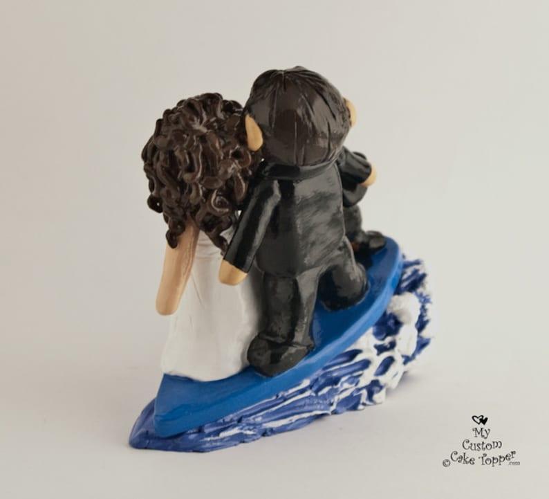 Surfing Cake Topper Destination Bride and Groom Wedding ...