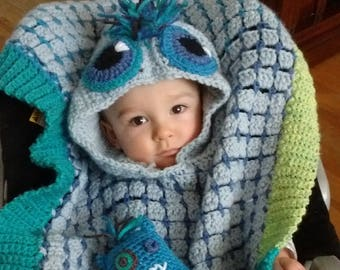 Monster Car Seat Poncho Crochet Pattern