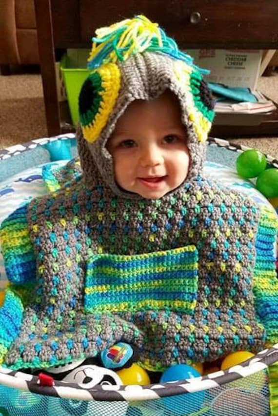 Monster Car Seat Poncho ~Crochet Pattern~