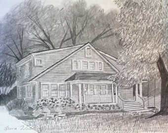 drawing of house made to order