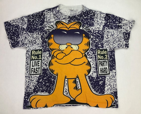 Vintage Garfield All Over Print T-Shirt