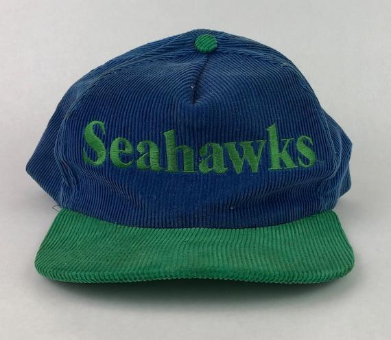 Vintage Seattle Seahawks Corduroy Snapback Hat