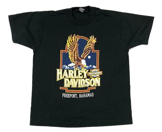 Vintage Harley Davidson Freeport Bahamas T-Shirt