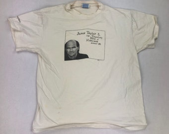 Vintage James Taylor & His Traveling Band of Musicians Summer 1996 Tour T-Shirt
