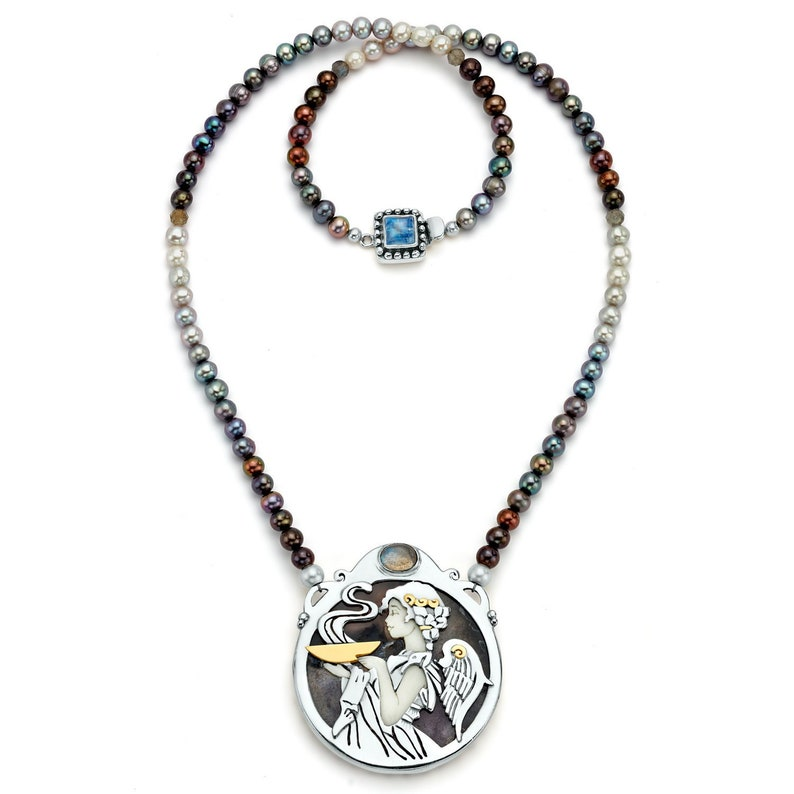 c7112bab83af3 The High Priestess, Goddess of Mystery Necklace