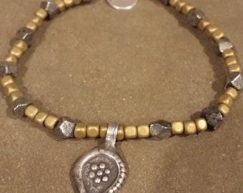 Pyrite and copper glass