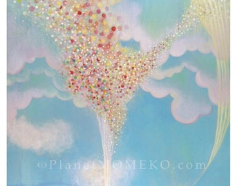 My Wish 8.5 x 11 giclee print -Celebrating life and spreading positive energy to the world. Partial donation to Japan Relief Efforts