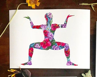 Kalyasana - Goddess Posture- I Paint the Body Electric - Limited Edition - Signed & Numbered - Fine Art Giclee Print