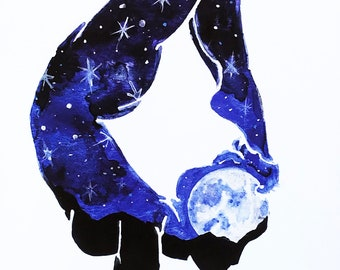 Sonoran Moonlight Sonata - Vrschikasana - Scorpion - Duchess of the Desert - Limited Edition - Signed & Numbered - Fine Art Giclée