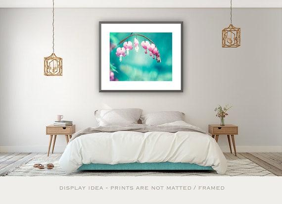 Teal Bedroom Decor, Pink Floral Nursery Prints, Teen Girl Wall Art, Bedroom  Decor Women, Little Girl Room Decor, Flower Photography