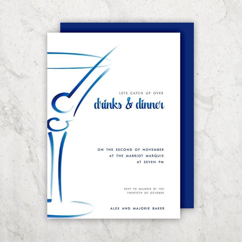 Invitation Design Corporate Invites Martini Glass Design Etsy