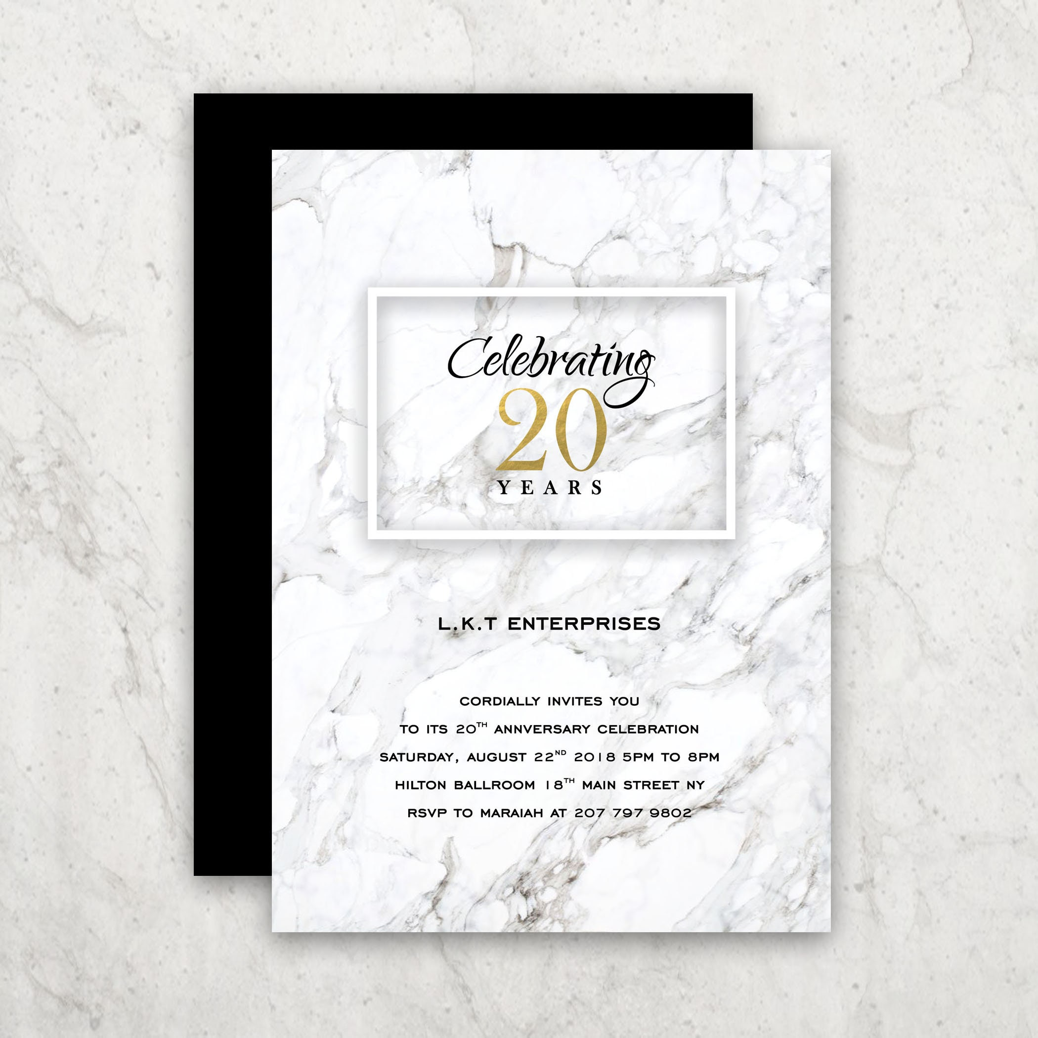 Invitation Design Corporate Invites Marbled Design Etsy