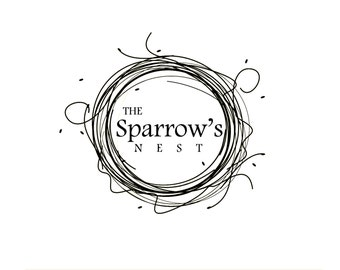 The Sparrow's Nest logo in pastel shades