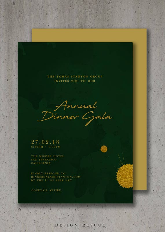 Event Invitation Design Corporate Invitations Business Etsy