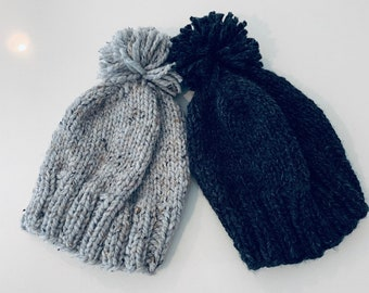 7ca0e6f450db Chunky Knit Hat with Pom-Pom