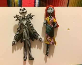 92a77e2709d Disney Inspired Jack Skellington and Sally earrings